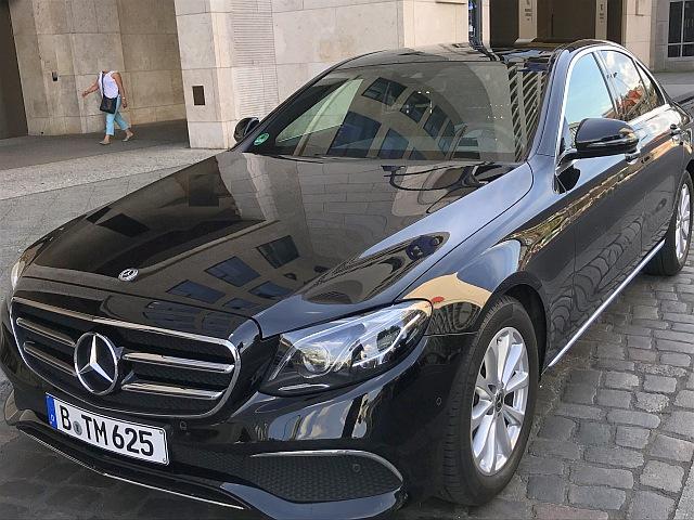 Mercedes E-Class at the hotel in Berlin