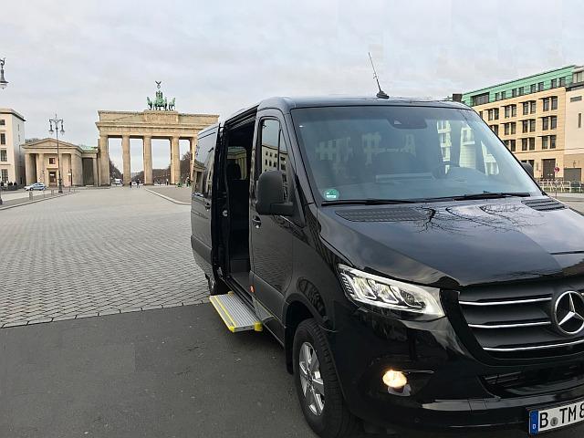 Mercedes Sprinter in front of the Brandenburg Gate in Berlin